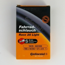 Race 28 Light 700C tube by Continental - presta valve