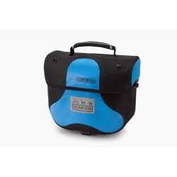 Brompton Mini Ortlieb bag - Arctic Blue - with frame and strap