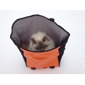 Brompton Ortlieb bag, complete with frame and strap - orange and black - cat not included