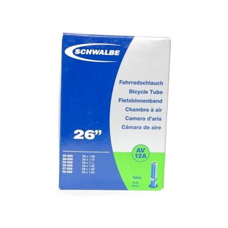 """Schwalbe 26 x 1.0 - 1.5 """" inner tube for mountain bike schrader / auto valve"""