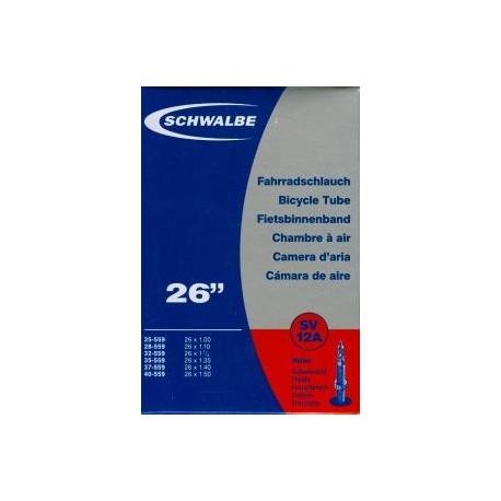 """Schwalbe 26 x 1.0 - 1.5 """" inner tube for mountain bike presta valve"""