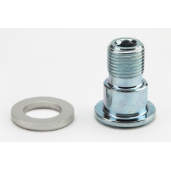 Brompton Pedal axle and bolt, RIGHT hand thread, steel