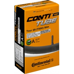 Tour 28 slim inner tube 700 x 28-37C by Continental - Schraeder valve