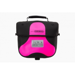Brompton Mini Ortlieb bag - Pink - with frame and strap