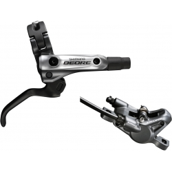 Shimano BR-M615 Deore bled I-spec-B compatible brake lever / Post mount calliper, rear