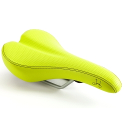 Brompton standard rail saddle - Lime Green, excluding Pentaclip