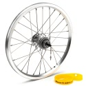 Brompton 3 or 6 speed rear wheel with wide range Sturmey Archer hub