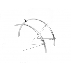 M:Part 700 x 45mm Commuter mudguards silver