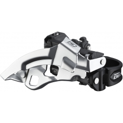 Shimano FD-M610 Deore 10-speed triple front derailleur, top swing, dual-pull