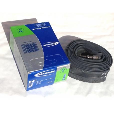 Inner tube 24 x 1.75 / 1 3/8 inch from Schwalbe AV9 - schrader valve