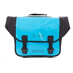 Brompton Ortlieb bag, Lagoon Blue and Black - complete with frame and strap