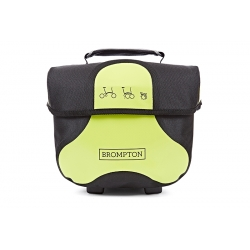 Brompton Mini O bag - Black / Lime Green