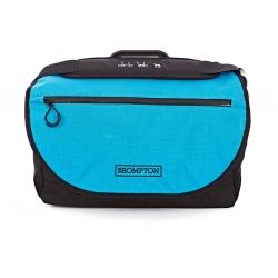 Brompton S bag - Black / Lagoon Blue