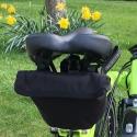 Brompton saddle pouch - black - on bike