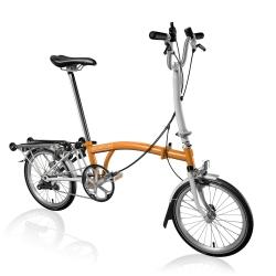 Brompton 2016 H3R Orange / White folding bicycle