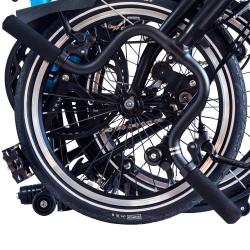 Brompton BLACK M/H type handlebar - on bike
