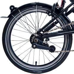 Brompton BLACK single / two speed rear wheel