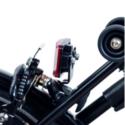 Brompton BLACK bracket for rear battery lamp - no rack version