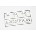 Brompton decal - Silver - Pre-2016 for posterity