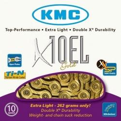 KMC X10EL Gold 10-speed MTB/road bike chain