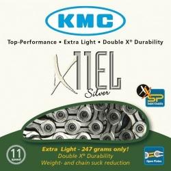KMC X11EL Silver 11-speed MTB/road bike chain