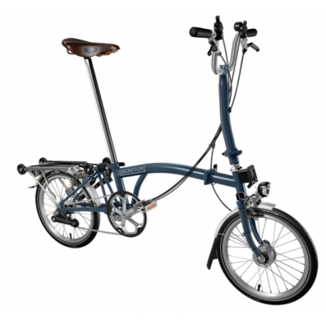 Brompton H6R Tempest Blue folding bicycle