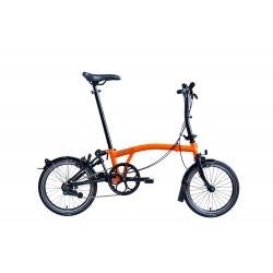 Brompton 2017 BLACK EDITION S6L - Orange and Black
