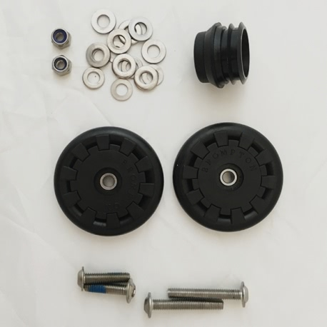 Brompton Eazy Wheel with 6mm screw for rear frame