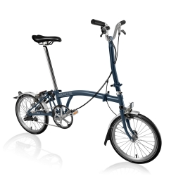Brompton 2017 H3L Tempest Blue folding bicycle