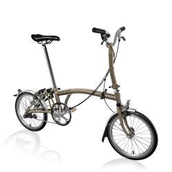 Brompton 2017 M3L Raw Lacquer folding bike