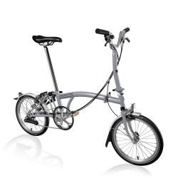 Brompton 2017 M6L Grey folding bike