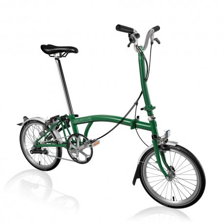 Brompton 2017 H3L Racing Green folding bicycle