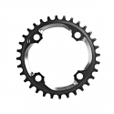 SRAM X01 CHAIN RING - 32T X-SYNC 94BCD ALUM 5MM BLACK W CNC SILVER (11SPD)