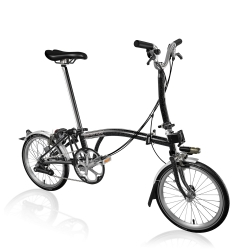 Brompton 2017 M6L folding bike - Stardust Black