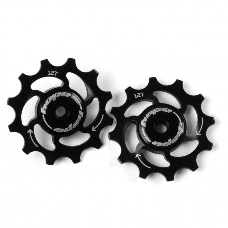 12 Tooth Hope Jockey Wheels (pair) - Black