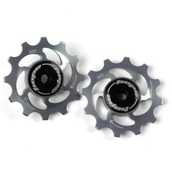 12 Tooth Hope Jockey Wheels (pair) - Silver