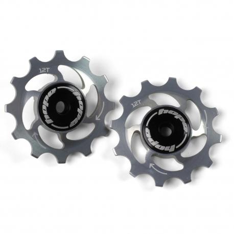 12 Tooth Hope Jockey Wheels (pair) - Silver