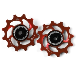 12 Tooth Hope Jockey Wheels (pair) - Red
