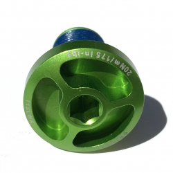 Shoulder bolt GREEN / fine thread for Intense bikes
