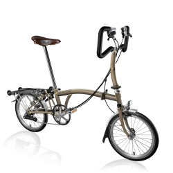Brompton 2017 P6R Raw Lacquer folding bicycle with Brooks Saddle