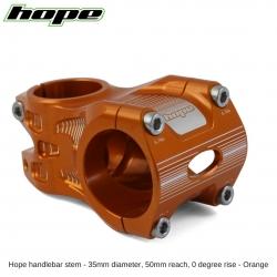 Hope A/M Stem 0 degree 50mm 35mm diameter - Orange