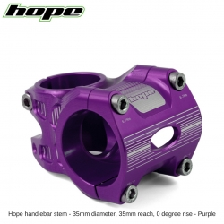 Hope A/M Stem 0 degree 35mm 35mm diameter - Purple