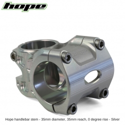 Hope A/M Stem 0 degree 35mm 35mm diameter - Silver