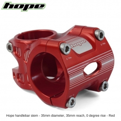 Hope A/M Stem 0 degree 35mm 35mm diameter - Red