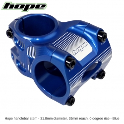 Hope A/M Stem 0 degree 35mm 31.8mm diameter - Blue