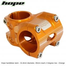 Hope A/M Stem 0 degree 35mm 31.8mm diameter - Orange