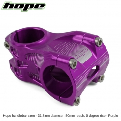 Hope A/M Stem 0 degree 50mm 31.8mm diameter - Purple