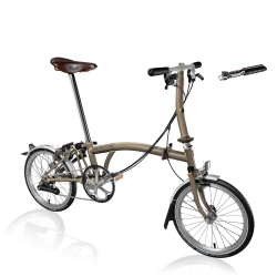 Brompton 2017 S6L - Raw Lacquer with Brooks Saddle