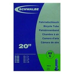 """Inner tube 20 x 1 1/8 to 1.50"""" from Schwalbe - Schraeder valve"""