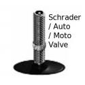 Inner tube 16 x 1 3/8 inch / 37-349 from Brompton - schraeder valve